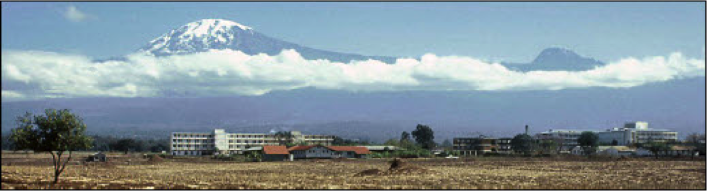 KCMC with Mount Kilimanjaro in the background