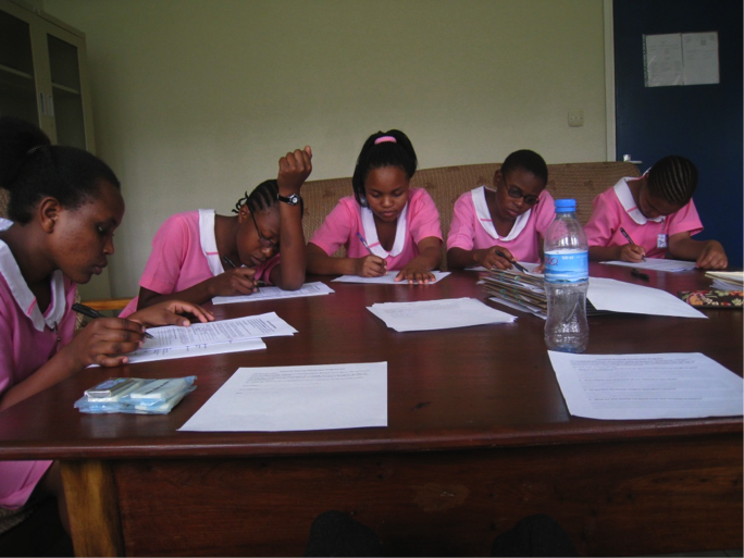 Photo: Students completing sponsorship application