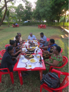 Barbeque with KCMC Nursing School staff